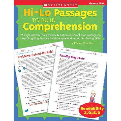Hi/Lo Passages to Build Reading Comprehension Grades 4-5 - by Michael  Priestley (Paperback)
