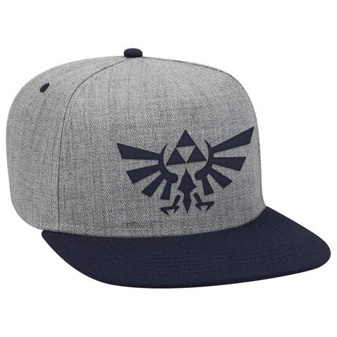 fa45dfeb567 The Legend Of Zelda  Hyrule Crest Brimmed Hat - Gray Navy   Target