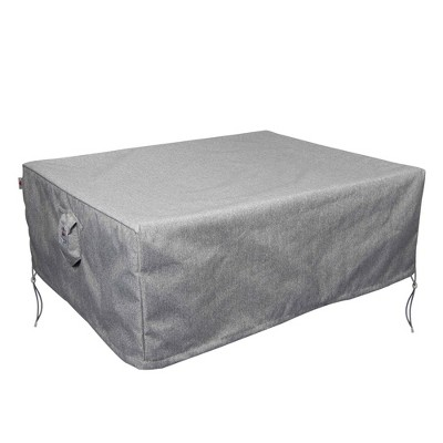 Shield Platinum 3-Layer Water Resistant Outdoor Coffee Table Covers, Grey Melange