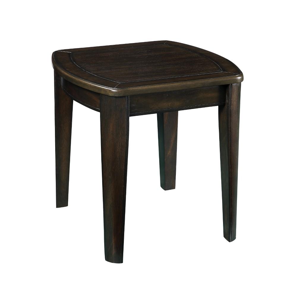 Diletta Game End Table With Chessboard Dark Walnut - Steve Silver