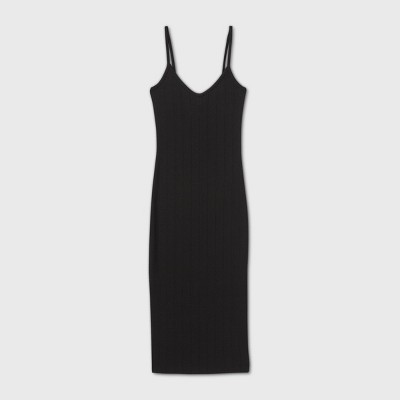 Women's Sleeveless Knit Dress - Wild Fable™ Black XL