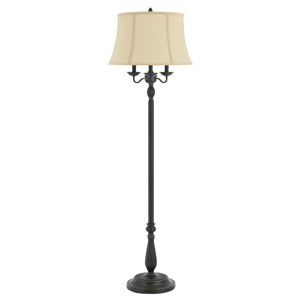 Image of 150w 6 Way Barnwell Metal/Resin Floor Lamp Bronze (Includes Energy Efficient Light Bulb) - Cal Lighting