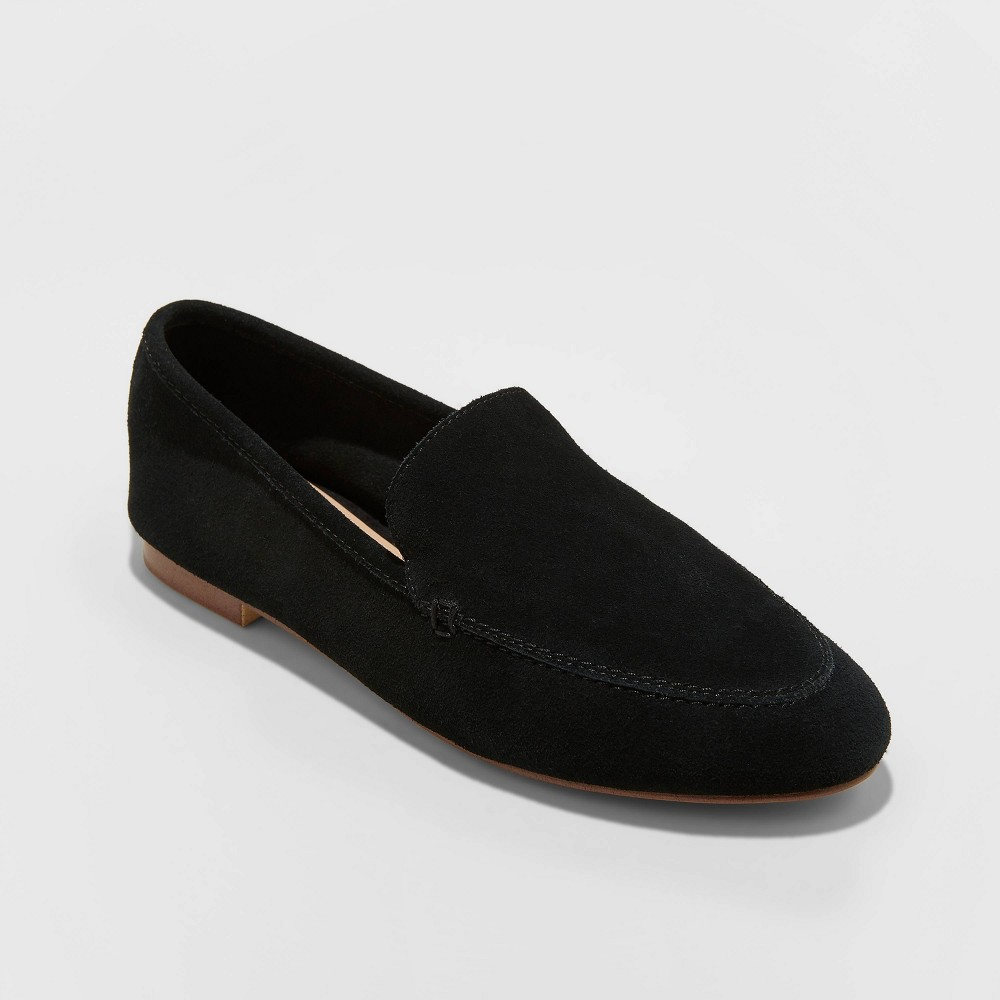 Women 39 S Mila Genuine Deconstructed Loafers A New Day 8482 Black 5 5