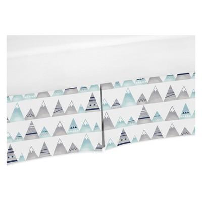 Sweet Jojo Designs Crib Skirt - Mountains Print - White