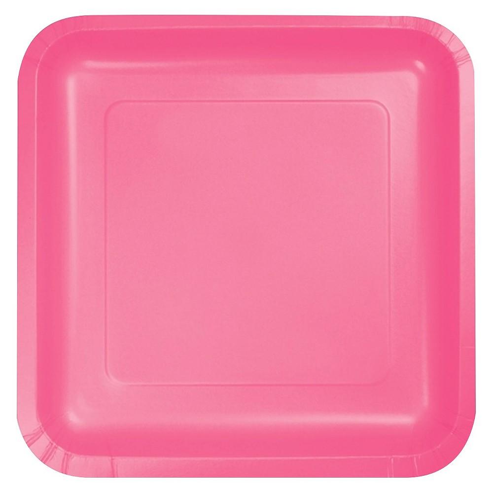 Candy Pink 7 Dessert Plates - 18ct