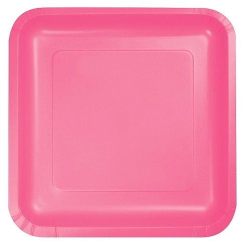 "Candy Pink 7"" Dessert Plates - 18ct - image 1 of 1"