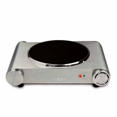 Salton Infrared Cooktop Single Burner - Silver