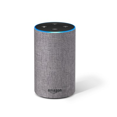 Amazon Echo (2nd Generation)Alexa-enabled Bluetooth Speaker - Heather Gray