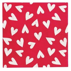 30ct Valentine's Lunch Napkins With Multiple Hearts - Spritz™