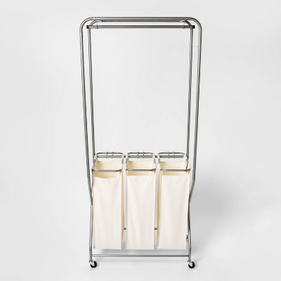 Laundry Station With Triple Sorting Bag White - Threshold™