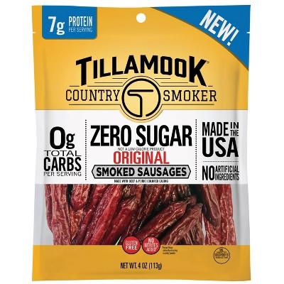 Tillamook Zero Sugar Original Smoked Sausages - 4oz
