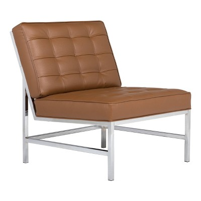 Ashlar Bonded Leather Tufted Chair - Studio Designs Home