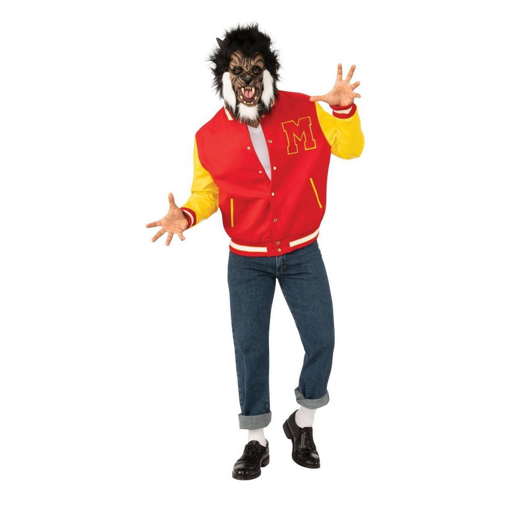 Image of Halloween Adult Michael Jackson Thriller Werewolf Jacket and Mask Halloween Costume One Size, Men's, MultiColored