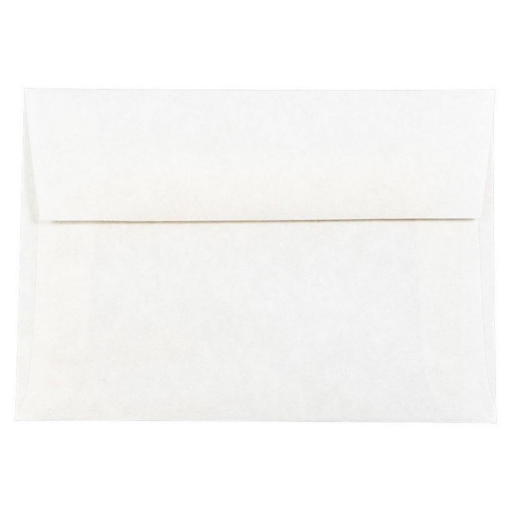 Jam Paper Envelopes 4Bar A1 50ct Parchment - White