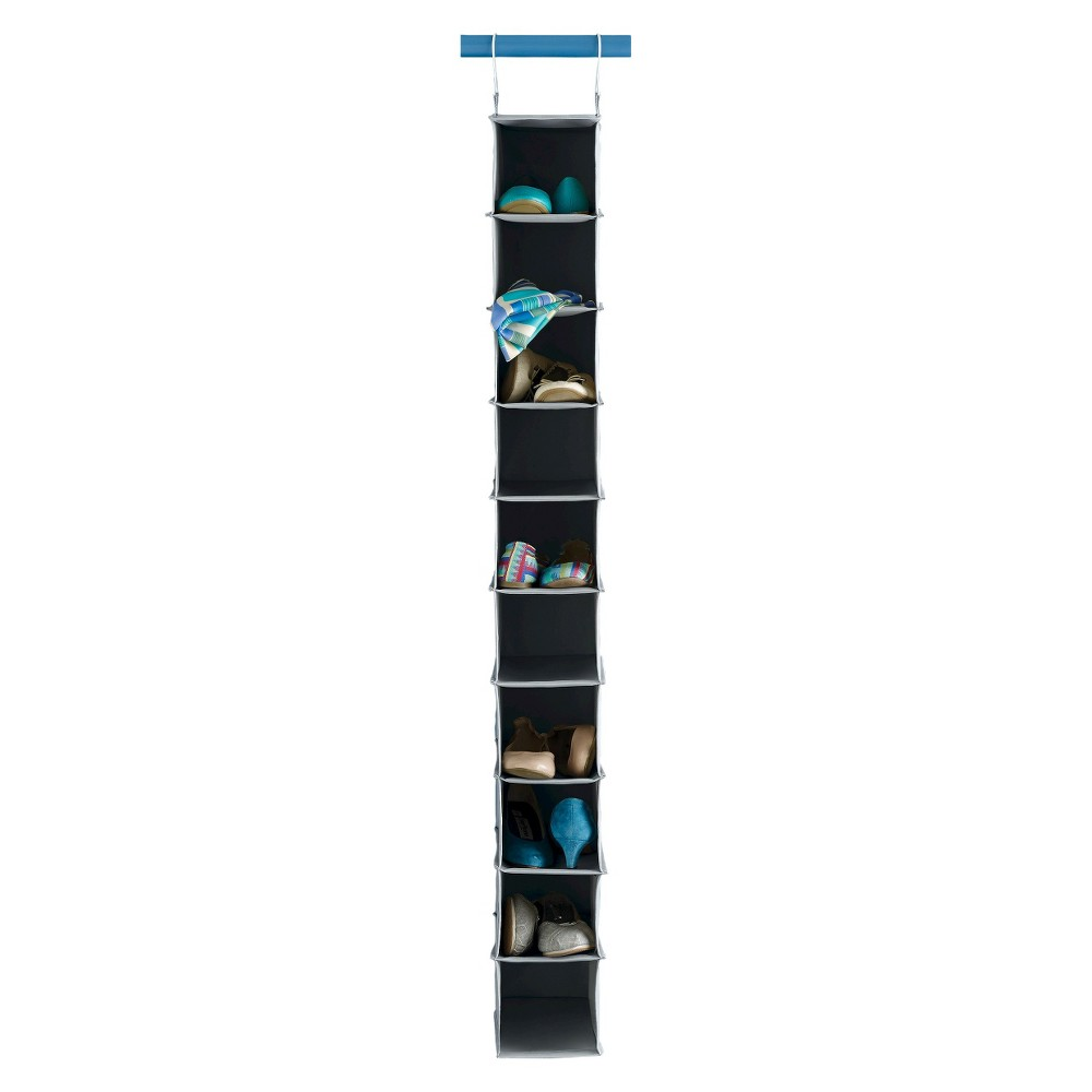 Image of 10-Shelf Hanging Shoe Storage Organizer – Gray - Room Essentials
