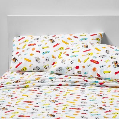 4pc Queen Fun Frenzy Cotton Sheet Set - Pillowfort™