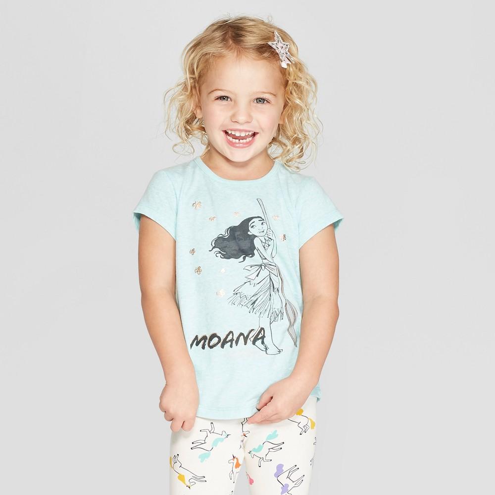 Toddler Girls' Disney Princess Short Sleeve T-Shirt - Blue 2T