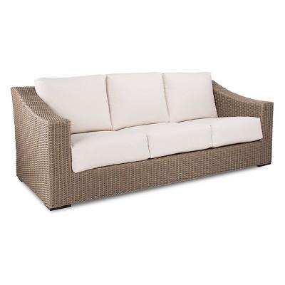 Premium Edgewood Wicker Patio Sofa - Smith & Hawken™