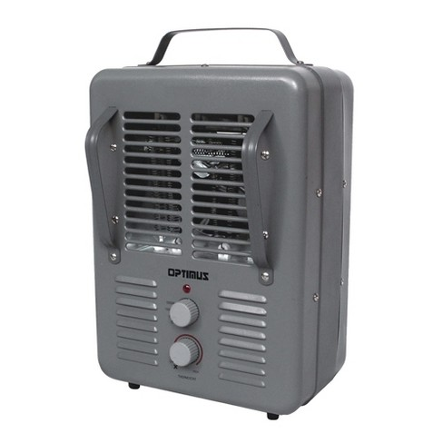 Optimus H-3013 Portable Indoor Electric Utility Room Heater with Automatic Thermostat Control and Fan Function for Indoor Home Space Heating, Gray - image 1 of 4