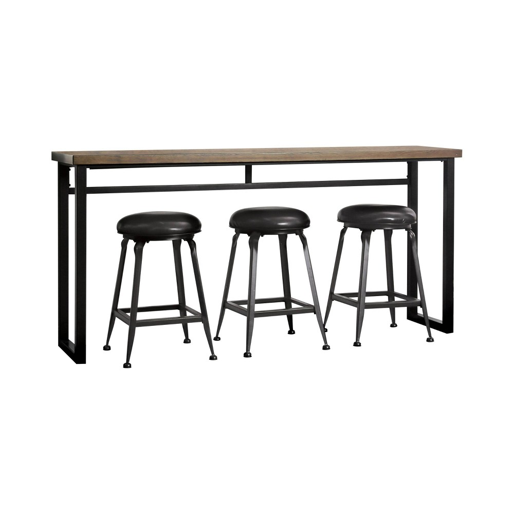 Image of 4pc Greenwich Dining Table Set Black - ioHOMES
