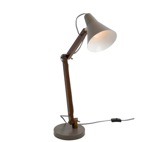 Oregon Industrial Adjustable Table Lamp Walnut  - LumiSource - image 1 of 4