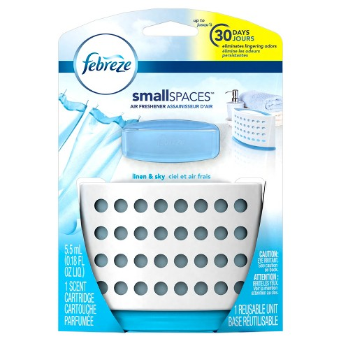 Febreze Small Spaces Linen & Sky Starter Kit Air Freshener - 1ct 5.5ml - image 1 of 7