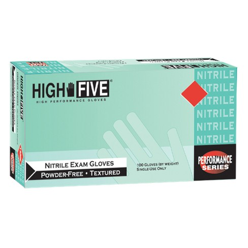 High Five Nitrile Exam Gloves - Blue - image 1 of 1