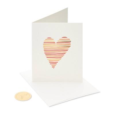Letterpress Heart Card - PAPYRUS