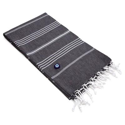 Lucky Pestemal Beach Towel Black