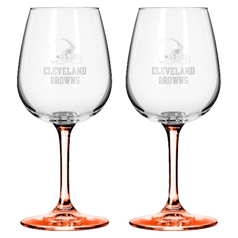 Boelter Brands Cleveland Browns 2 Pack Wine Glass 12 oz - image 1 of 1