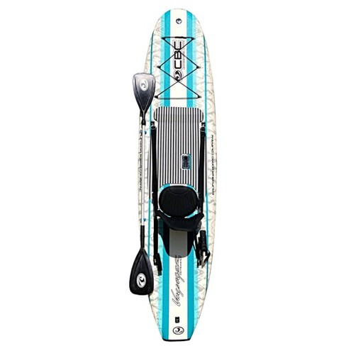 California Board Company Voyager 10'6 Fishing Stand Up Paddleboards Package with Detachable Seat & Kayak Paddle - image 1 of 4