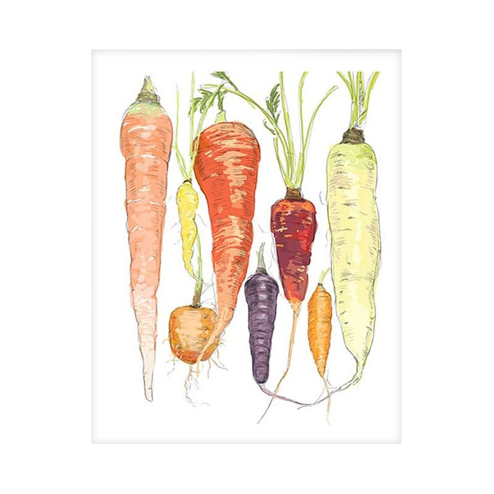 Scoutmob Notecard Set - Assorted Vegetable Print