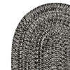 6'X9' Fleck Braided Oval Area Rug Black - Colonial Mills - image 3 of 3