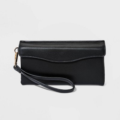 Flap Pouch with Folded Double Interior Wristlet - A New Day™