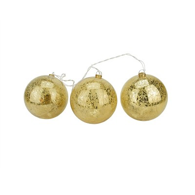 Penn 20ct Mercury Glass Finish Ball Ornaments Christmas Lights Clear - 1.5' White Wire