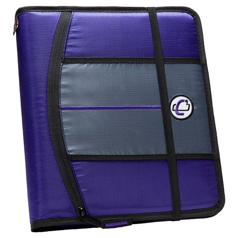 "Case•it 1"" 3 Ring Binder with Hard Cover 9 Pockets Deep Purple - image 1 of 2"