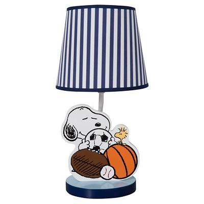 Peanuts Lamp w/ Shade & Bulb - Snoopy Sports