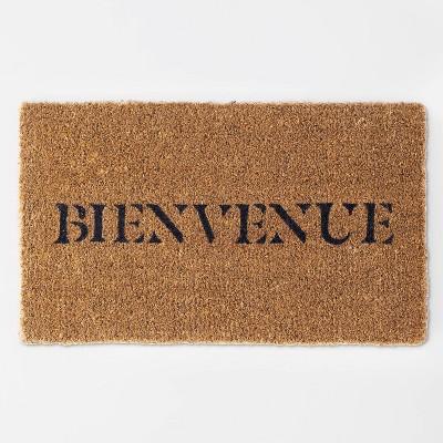 "1'6""x2'6"" Bienvenue Doormat Black - Threshold™ designed with Studio McGee"