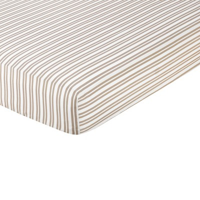 Sweet Jojo Designs Lamb Fitted Crib Sheet - Stripe