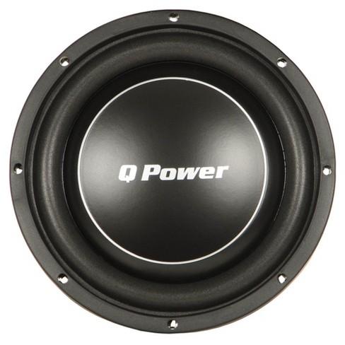 Q Power Deluxe 12 Inch Shallow Mount 1200 Watt Flat Car Subwoofer | QPF12-FLAT - image 1 of 4