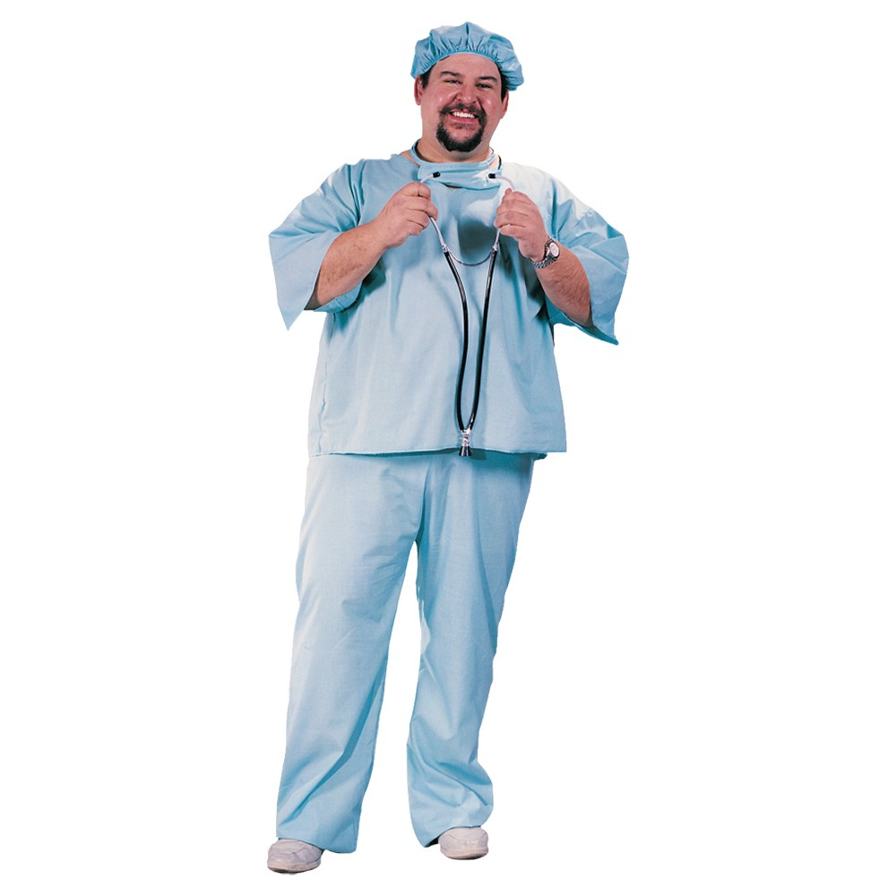 Image of Halloween Adult Doctor Costume XX-Large, Adult Unisex, Blue