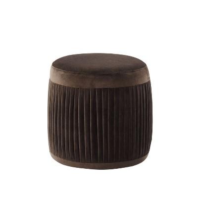 Darby Round Ottoman Brown - miBasics