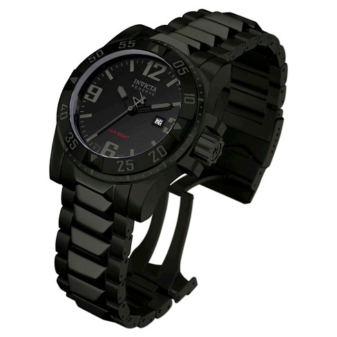 Men's Invicta 6250 Excursion Quartz 3 Hand Black Dial Link Watch - Black - image 1 of 1