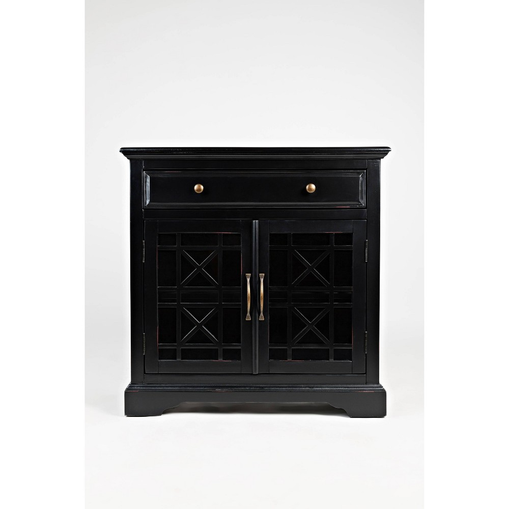 "Image of ""32"""" Spacious Wooden Accent Chest Black - Benzara"""