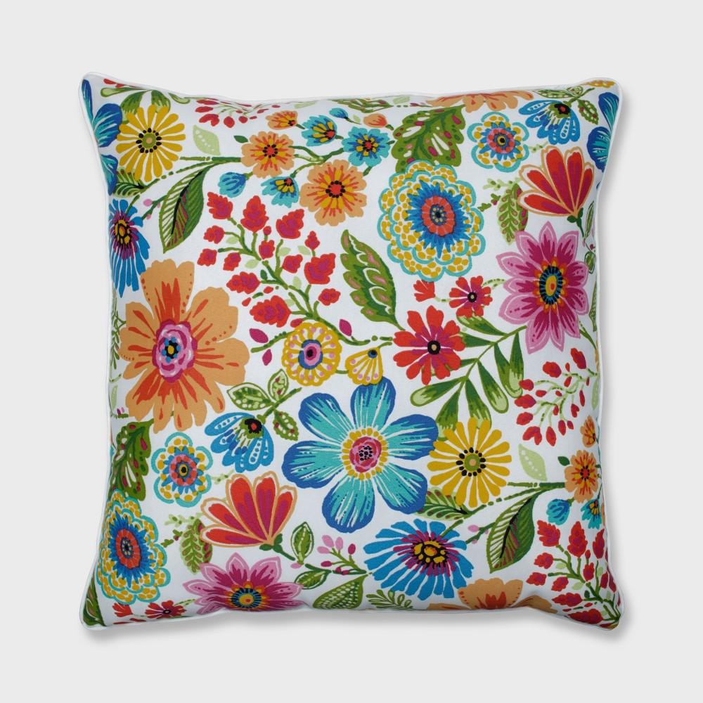 25 Gregoire Outdoor Floor Pillow Prima Blue - Pillow Perfect