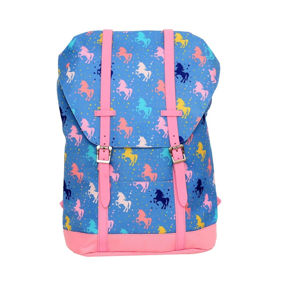 """Image of """"Accessory Innovations 17"""""""" Kids' Undercover Unicorn Yalkut Backpack - Blue, Girl's, Pink Blue"""""""