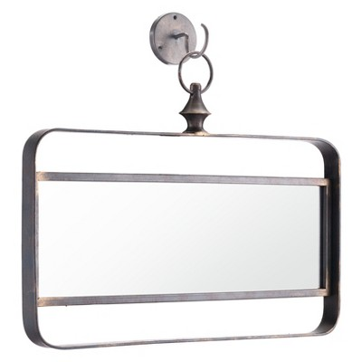 ZM Home 18  Vintage Modern Rectangle Mirror Black