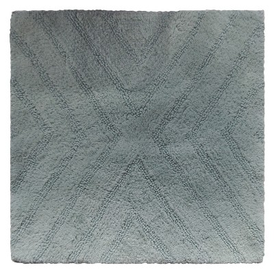 Textured Stripe Square Bath Rug Aqua Gray - Project 62™ + Nate Berkus™