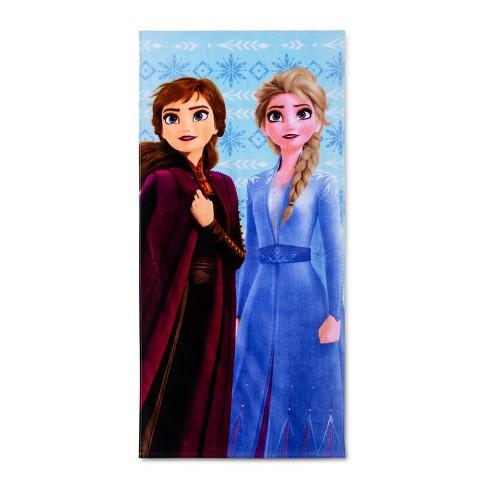 Frozen 2 Diamond Snowflake Beach Towel Blue - Disney - image 1 of 3
