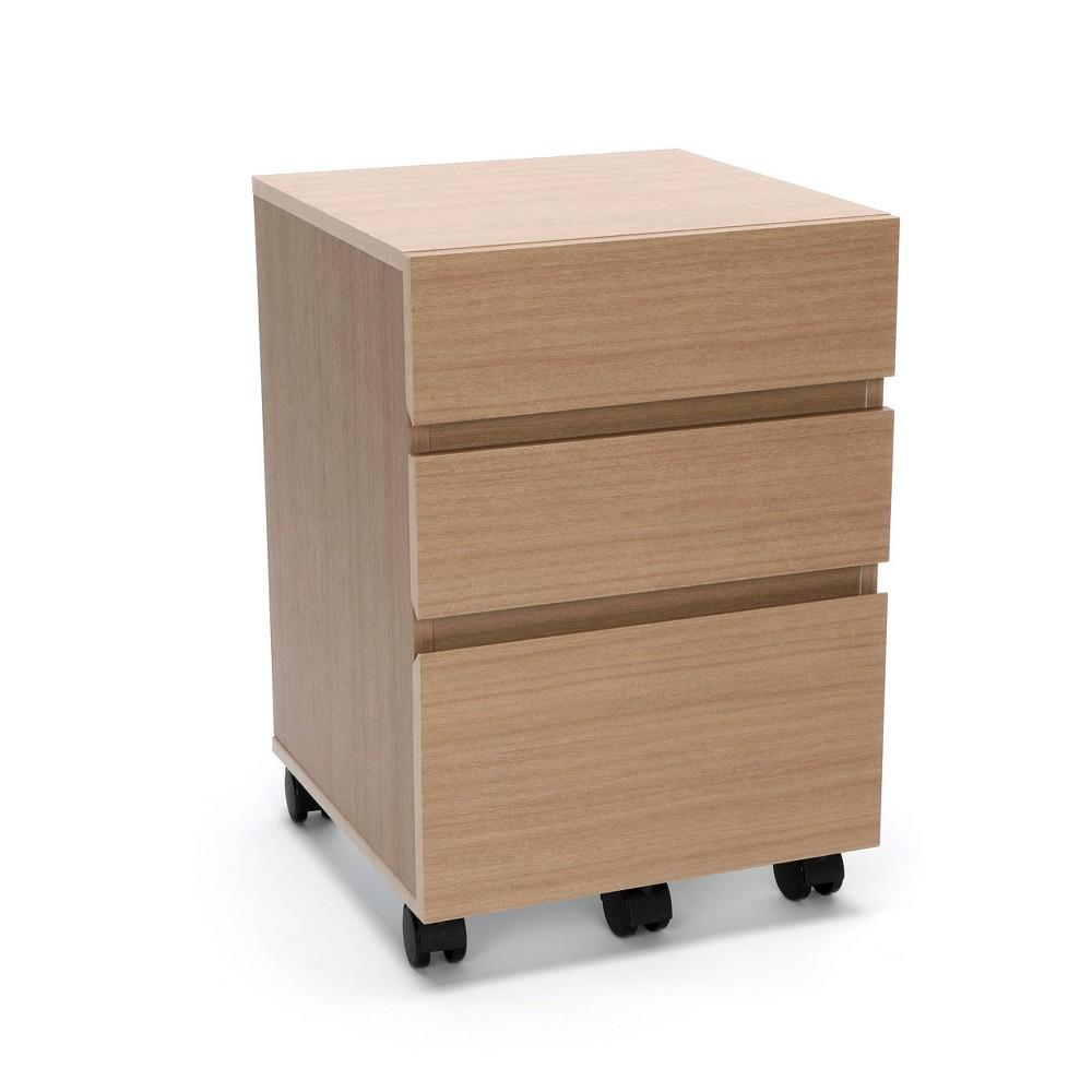 Image of 3 Drawer Wheeled Mobile Pedestal Cabinet Harvest - Ofm